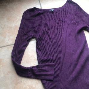 3/$30 Express Asymmetric Hi-Low Tunic Sweater MED